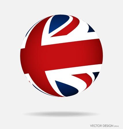 British Flag. Vector illustration.