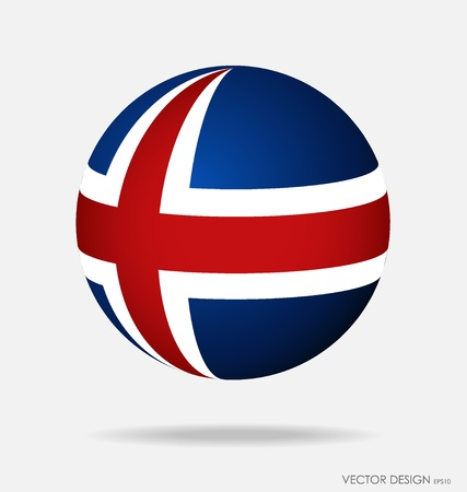 flag of iceland: Bandera de Islandia. Ilustraci�n del vector. Vectores