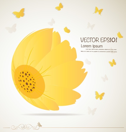 daisyflower: Vintage floral background - Daisies. Vector illustration.