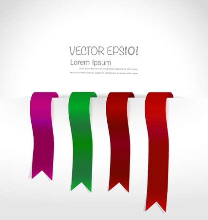 sell out: Shiny ribbon promotional products design with copy space. Vector illustration.