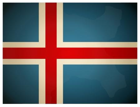 flag of iceland: Bandera del vintage de Islandia. Ilustraci�n del vector.