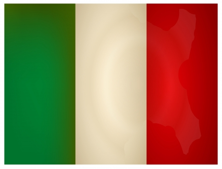 Vintage Italy Flag. Vector illustration. Vector