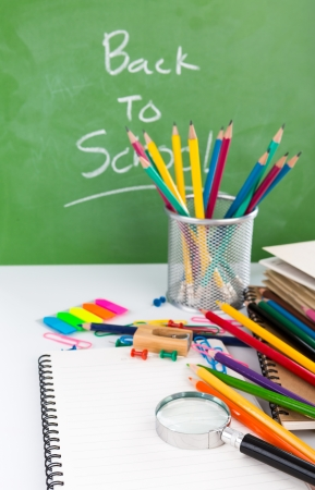 Back to school : School stationery photo