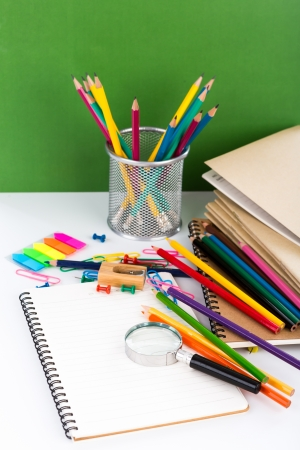 Back to school : School stationery Imagens