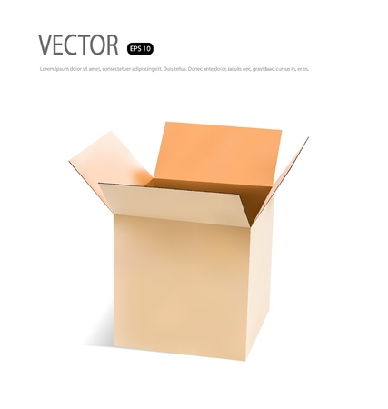 Cardboard box. Vector illustration. Stock Vector - 21395485