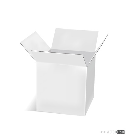 stockpile: Cardboard box. Vector illustration. Illustration
