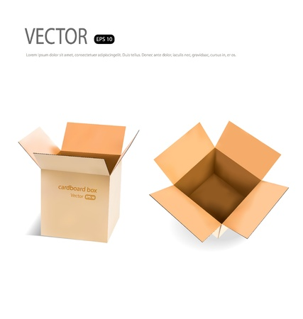 Collection of Cardboard boxes. Vector illustration. Stock Vector - 21395500