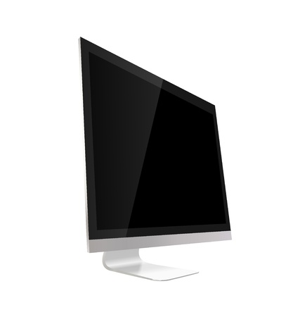 Computer display isolated on white. Vector illustration. Stock Vector - 21395511