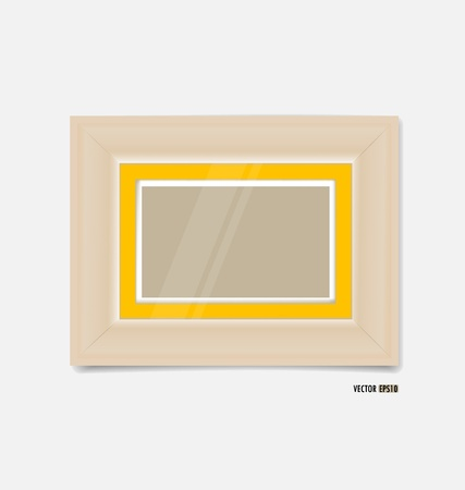 Picture frame on yellow wall. Vector EPS10 Stock Vector - 21395550