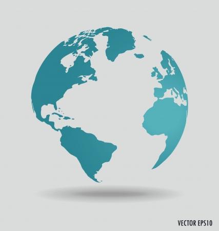 zeměkoule: Moderní zeměkoule. Vektorové ilustrace.