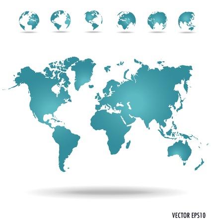 Nowoczesne globe. Ilustracji wektorowych.