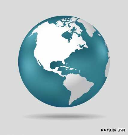 wire globe: Modern globe. Vector illustration.