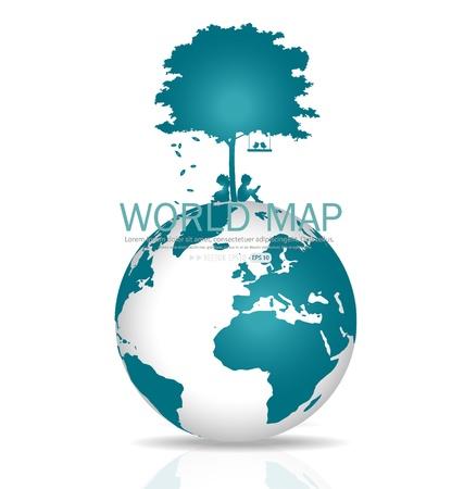 biological waste: Salva el mundo. Ilustraci�n.