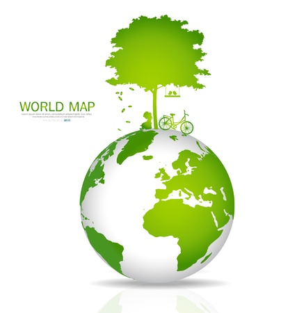 simbolo paz: Salva el mundo. Ilustraci�n.