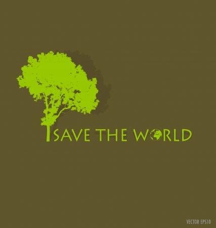 icono contaminacion: Salva el mundo. Ilustraci�n.