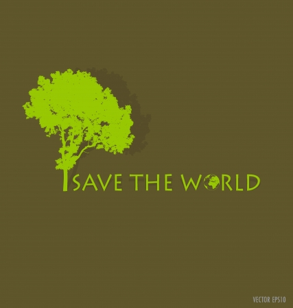 land development: Save the world. Illustration.