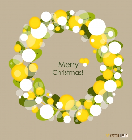 Merry Christmas Greeting Card, vector illustration. Vector