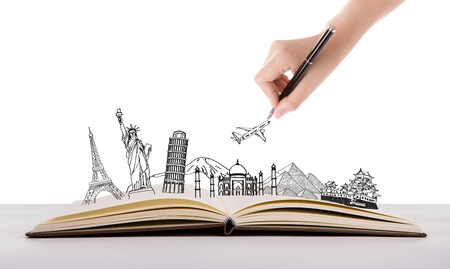 writing book: Libro di viaggio (Giappone, Francia, Italia, New York, India, Egitto)
