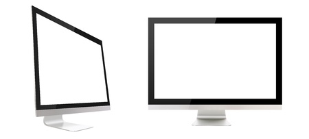 Computer display isolated on white background photo