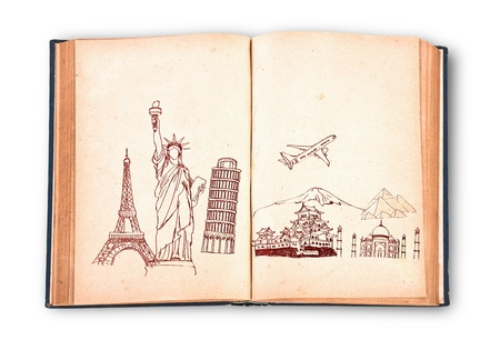 Book of travel (Japan,France,Italy,New York,India,egypt) photo
