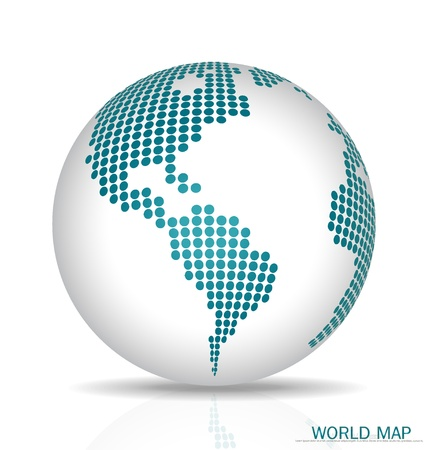 Dotted Globe. Vector illustration.