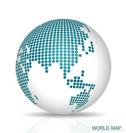Przerywana Globu. Ilustracji wektorowych.