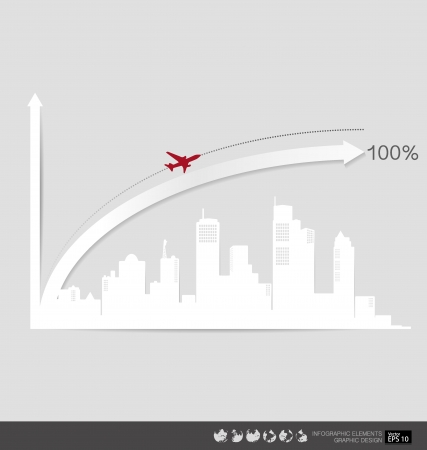 Modern design graph. Business graph to success, can use for business concept  illustration. Vector