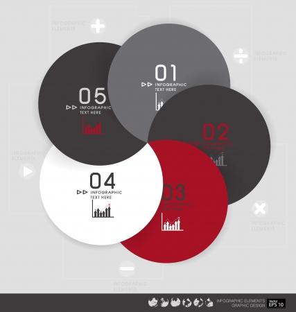 numbering: Modern design layout  modern design template illustration. Illustration