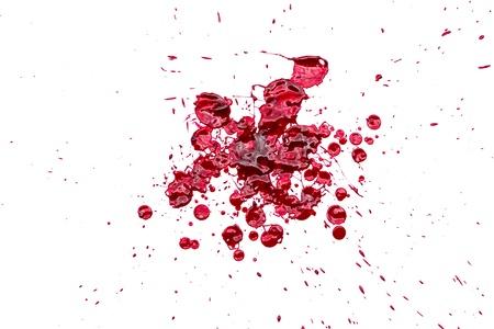 Halloween concept : Blood splatter on white background Stock Photo - 22149065