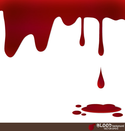 the ink drop: Blood dripping, blood background. Vector illustration. Illustration