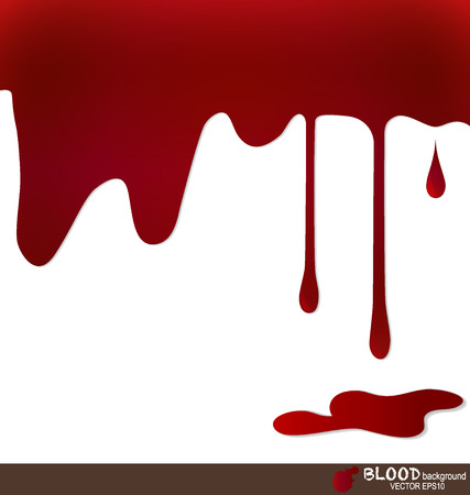 Blood dripping, blood background. Vector illustration. Illustration