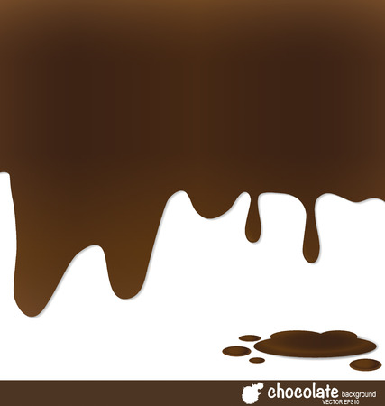 Melted chocolate. Vector illustration. Vector
