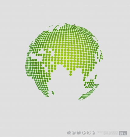 Modern globe. Vector illustration. Vector