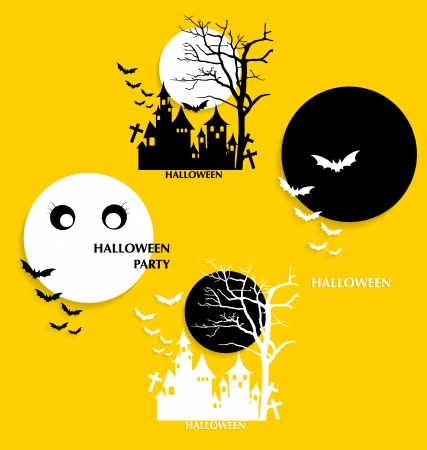 Halloween background. Vector illustration. Vector