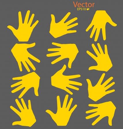 Hands. Vector illustration. Vector