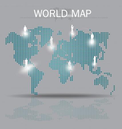 World map. Vector Illustration. Vector