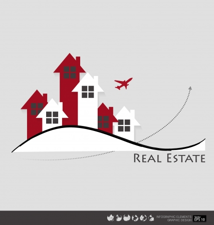 leasing: Real Estate House. Vector illustration.