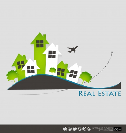 Real Estate House. Vector illustration. Vector
