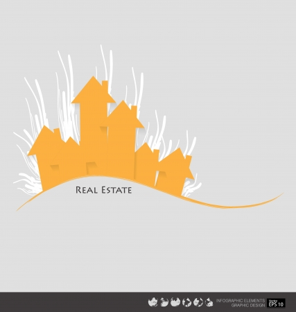 Real Estate House. Vector illustration. Stock Vector - 22690131