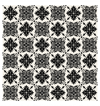 Vector seamless pattern, vintage floral background. Vector illustration. Stock Vector - 22690338