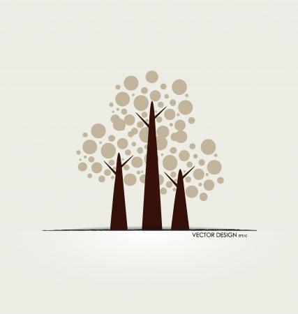 arbor: Abstract tree. Vector illustration.