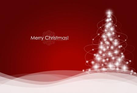 Drzewko świąteczne. Ilustracji wektorowych.