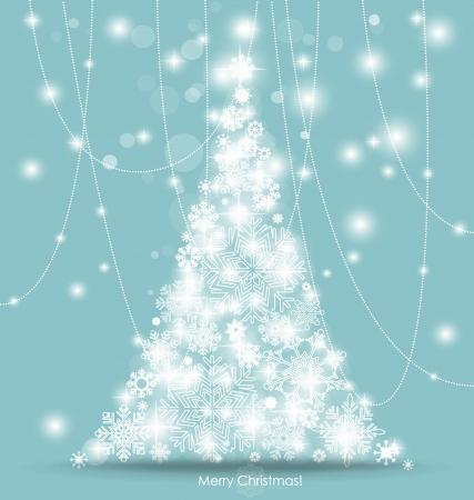 Karácsonyfa. Vektoros illusztráció.