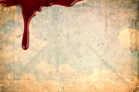 Blood on vintage paper photo