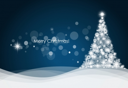 yule: Christmas background with Christmas tree, vector illustration. Illustration