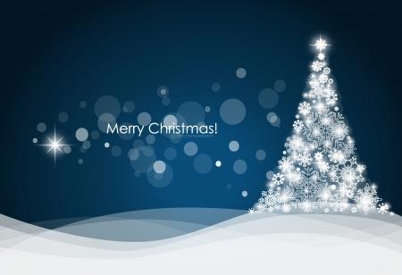 De fondo de Navidad con árbol de navidad, ilustración vectorial. Foto de archivo - 23351037