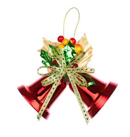 campanas: Shiny rojo Campanas de Navidad decorados