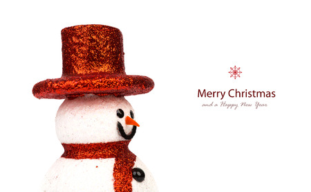 Snowman isolated on white photo