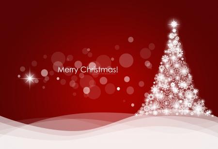 estrellas de navidad: De fondo de Navidad con árbol de navidad, ilustración vectorial.