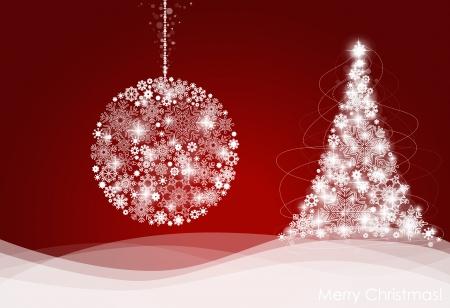 Boże Narodzenie w tle z choinki, ilustracji wektorowych.